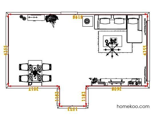 平面布置图贝斯特系列客餐厅G8250