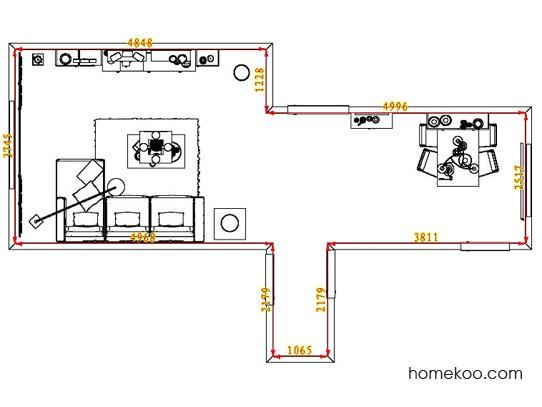 平面布置图斯玛特系列客餐厅G8251