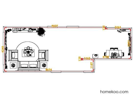 平面布置图乐维斯系列客餐厅G8254