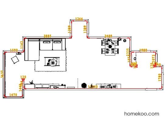 平面布置图柏俪兹系列客餐厅G8270