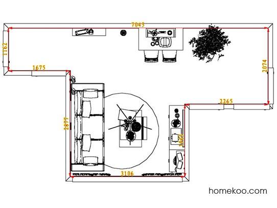 平面布置图贝斯特系列客餐厅G8272