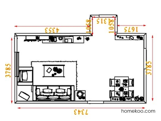 平面布置图斯玛特系列客餐厅G8275