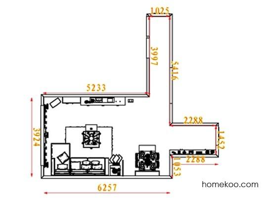 平面布置图德丽卡系列客餐厅G8277