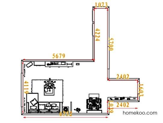 平面布置图德丽卡系列客餐厅G8279