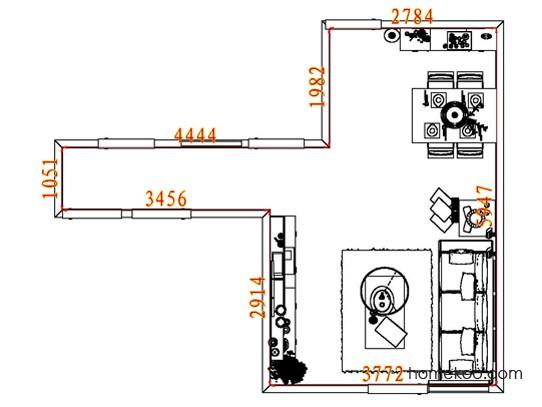 平面布置图德丽卡系列客餐厅G8291