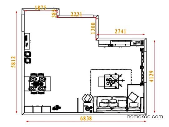 平面布置图斯玛特系列客餐厅G8296