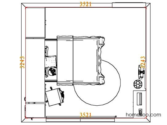 平面布置图德丽卡系列青少年房B7640