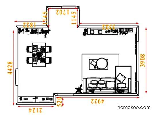 平面布置图斯玛特系列客餐厅G8317