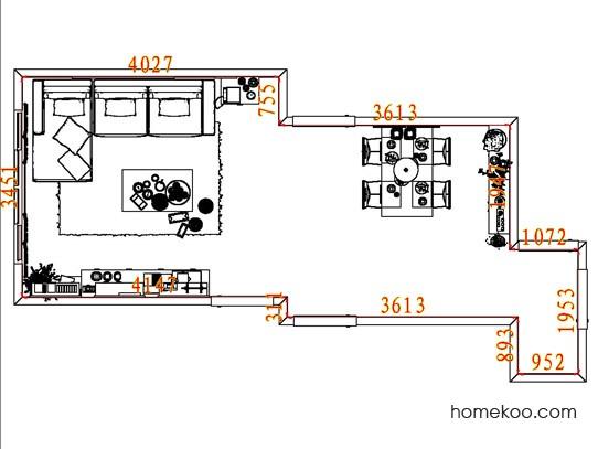 平面布置图斯玛特系列客餐厅G8332