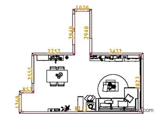平面布置图柏俪兹系列客餐厅G8339