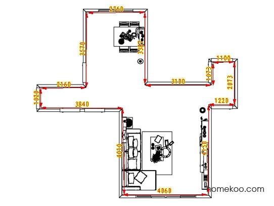 平面布置图柏俪兹系列客餐厅G8357