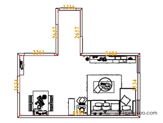 平面布置图乐维斯系列客餐厅G8359