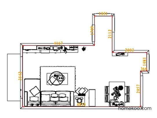 平面布置图格瑞丝系列客餐厅G8367