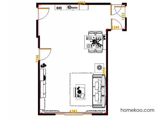 平面布置图德丽卡系列客餐厅G8393