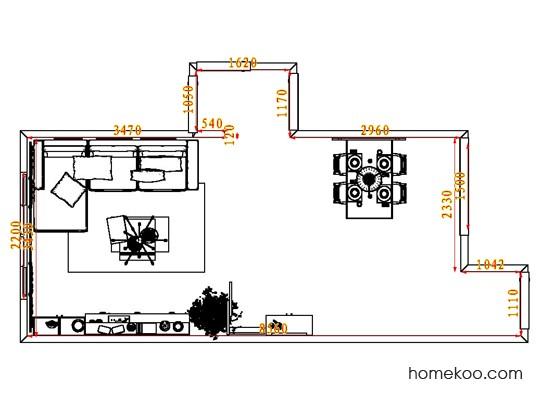 平面布置图斯玛特系列客餐厅G8403