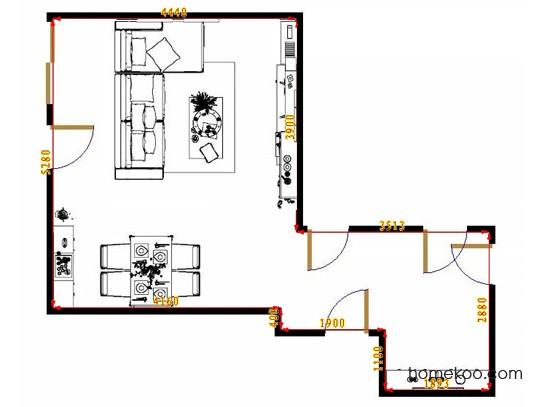 平面布置图贝斯特系列客餐厅G8410
