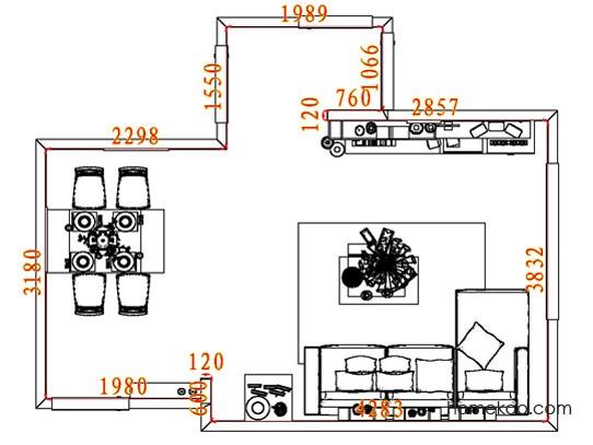 平面布置图斯玛特系列客餐厅G8413