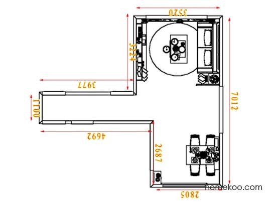 平面布置图斯玛特系列客餐厅G8416