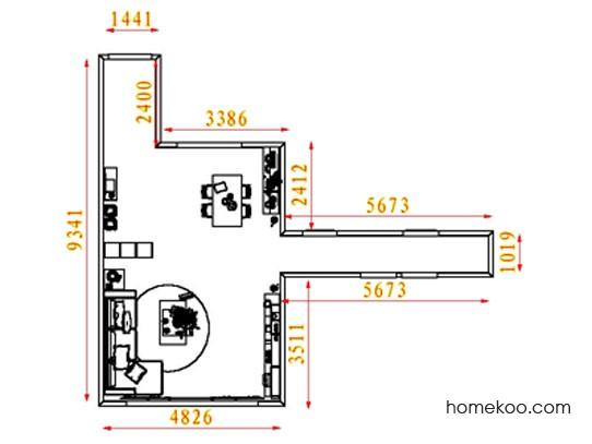 平面布置图斯玛特系列客餐厅G8417