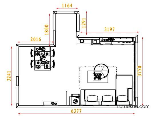 平面布置图贝斯特系列客餐厅G8448