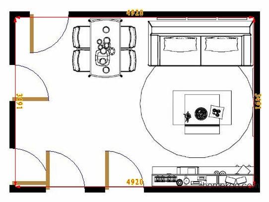 平面布置图斯玛特系列客餐厅G8459
