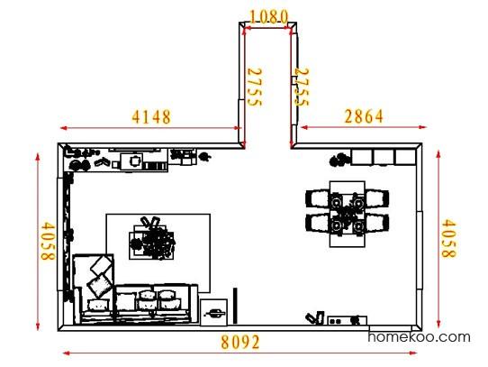 平面布置图柏俪兹系列客餐厅G8467