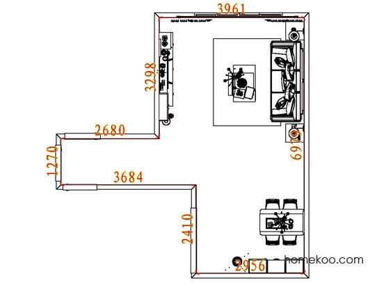 平面布置图贝斯特系列客餐厅G8470