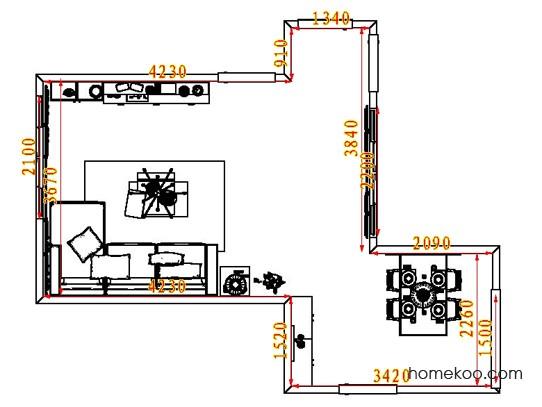 平面布置图格瑞丝系列客餐厅G8473