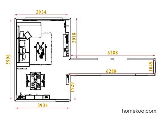 平面布置图德丽卡系列客餐厅G8481