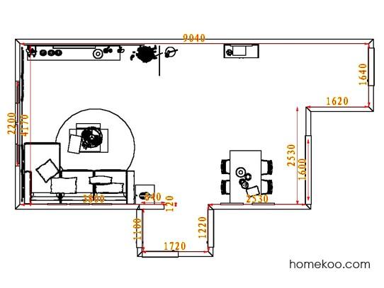 平面布置图贝斯特系列客餐厅G8485