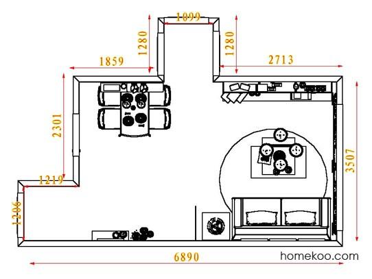 平面布置图乐维斯系列客餐厅G8489