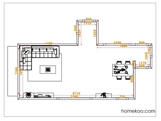 平面布置图斯玛特系列客餐厅G8529