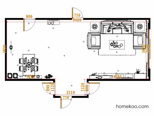 平面布置图贝斯特系列客餐厅G8536