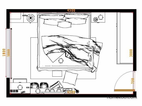 平面布置图斯玛特系列卧房A8805