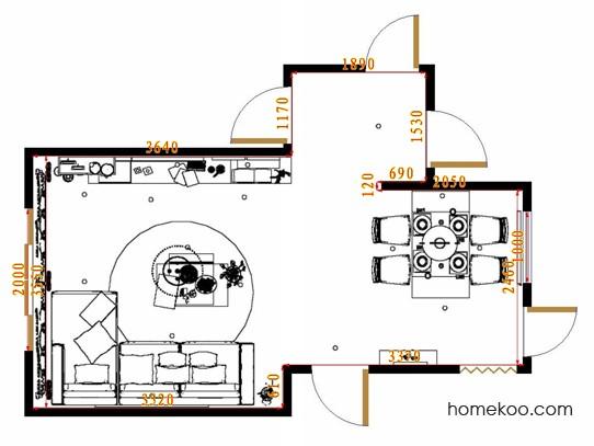 平面布置图乐维斯系列客餐厅G8579