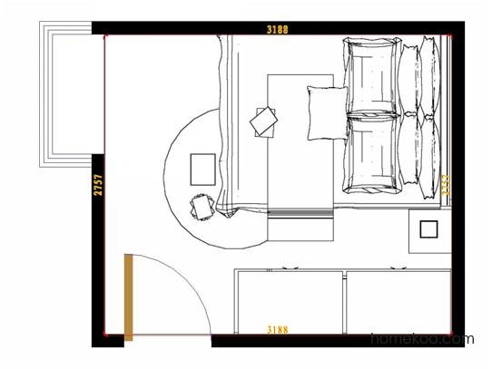 平面布置图乐维斯系列卧房A9128
