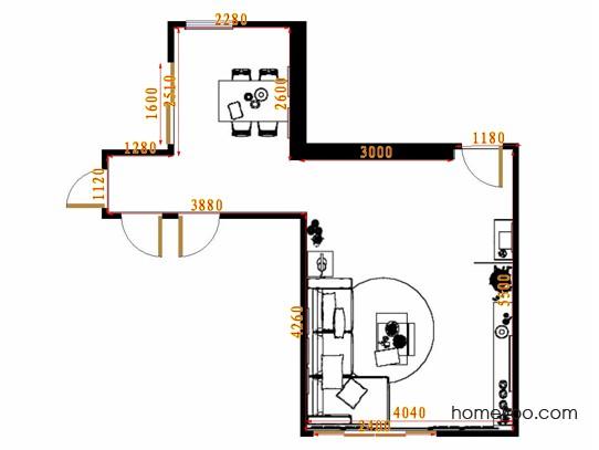 平面布置图柏俪兹系列客餐厅G8592