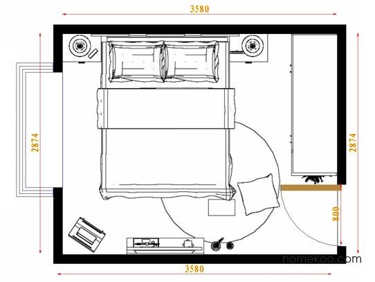平面布置图柏俪兹系列卧房A9194