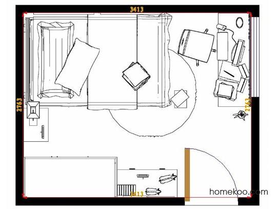 平面布置图斯玛特系列青少年房B9237
