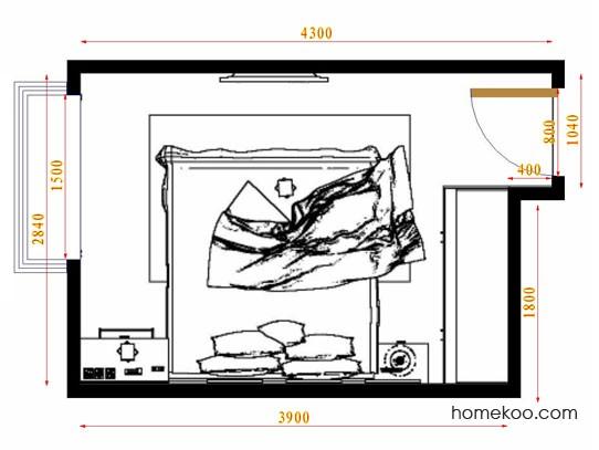 平面布置图斯玛特系列卧房A9420