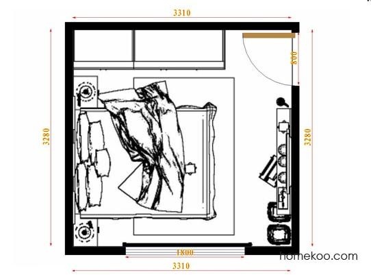 平面布置图柏俪兹系列卧房A9426