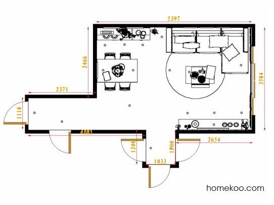 平面布置图斯玛特系列客餐厅G8602