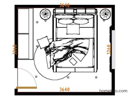平面布置图德丽卡系列卧房A9467