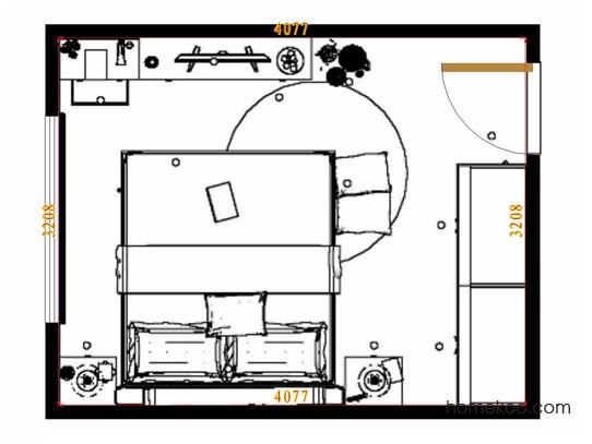 平面布置图斯玛特系列卧房A9481
