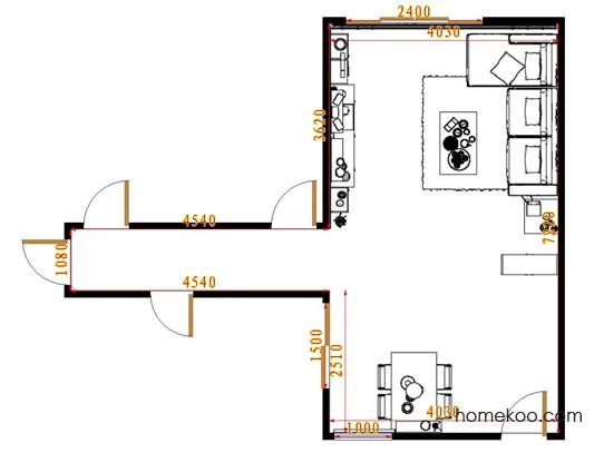 平面布置图贝斯特系列客餐厅G8618