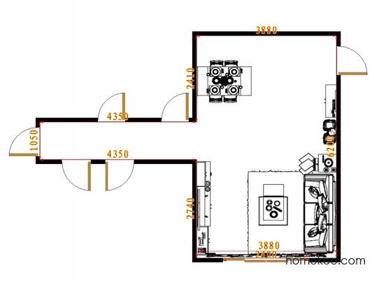 平面布置图柏俪兹系列客餐厅G8621