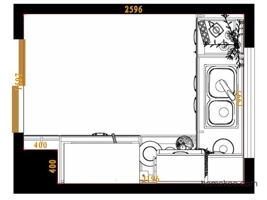 平面布置图格瑞丝系列厨房F9672
