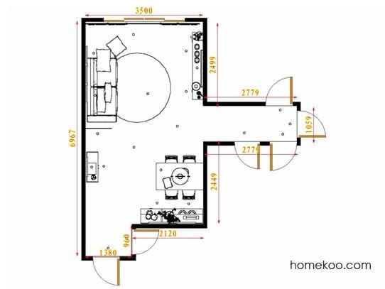 平面布置图斯玛特系列客餐厅G8628