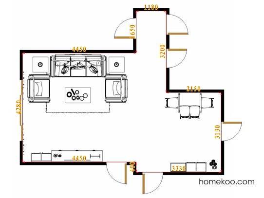 平面布置图斯玛特系列客餐厅G8633