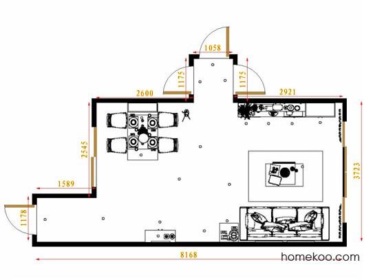 平面布置图贝斯特系列客餐厅G8644